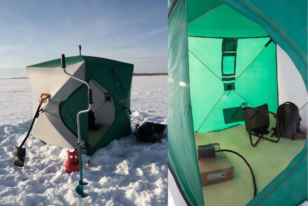 Зимняя палатка куб helios
