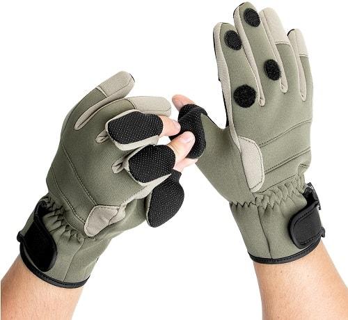 Перчатки зимние Helios без пальцев для рыбалки