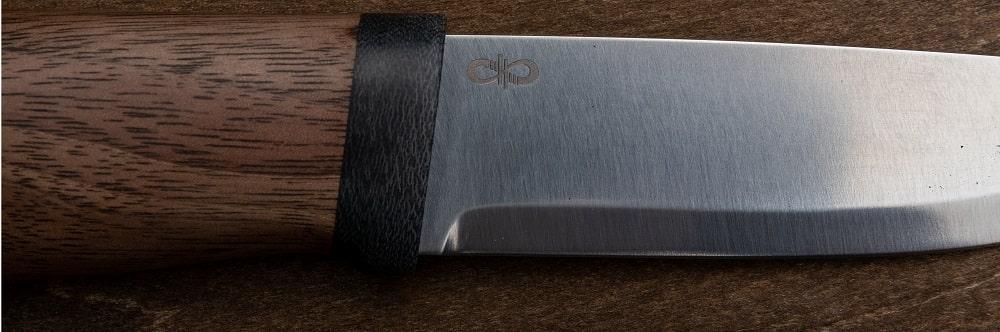 Фото охотничьего ножа Кузюк монтаж материал рукояти