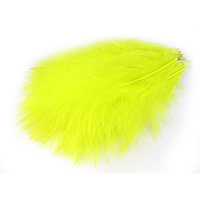 Перья марабу Marabou Plumes Select FL.YELLOW FLY-FISHING (MS010)